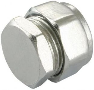 15mm compression chrome stop end fitting (Bag of 10=£10.80)